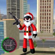 圣诞老人火柴人绳索英雄无限钻石金币版