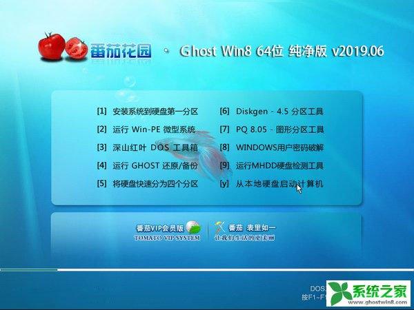 番茄花园 Ghost Win8纯净版64位 v2019.06